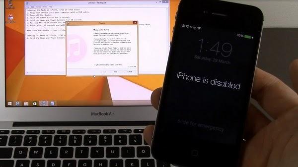iphone bị vô hiệu hóa không có icloud