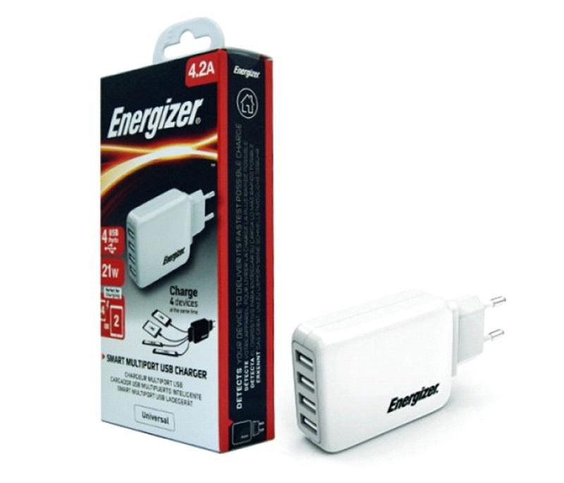 sạc Energizer 4 cổng USB USA4BEUCWH5 4.2A 20W