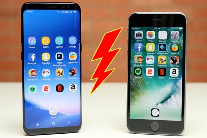 Kết quả hình ảnh cho Galaxy S8 bị chê tốc độ yếu hơn cả iPhone 6S