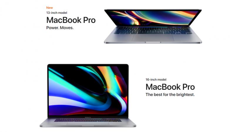 macbook pro 2020 13 inch và macbook pro 2020 16 inch