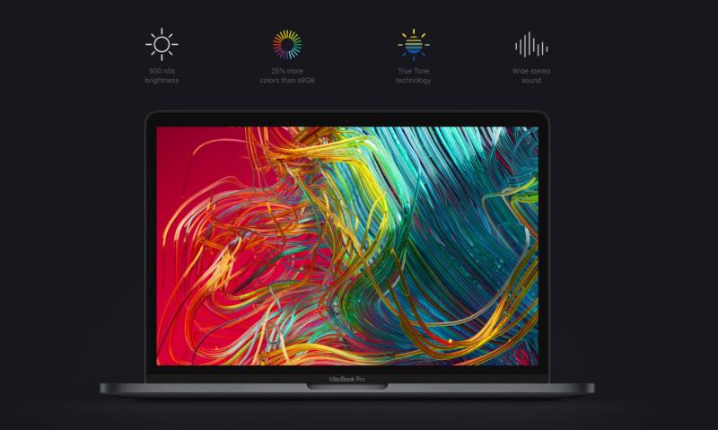 màn hình của macbook pro 2020 13 inch