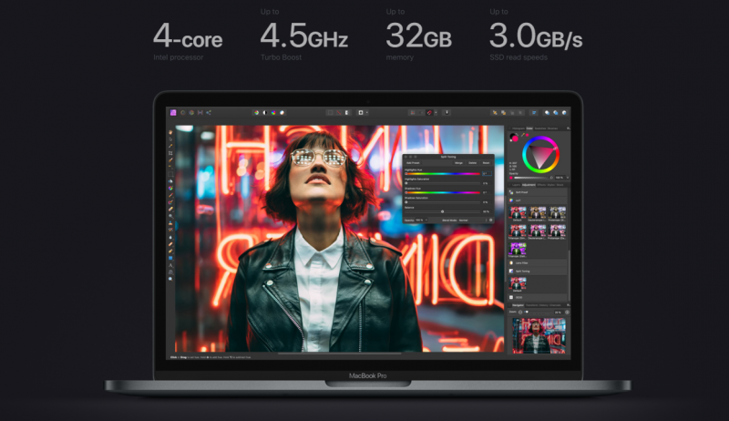 Chip intel10th Macbook pro 2020
