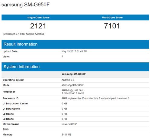 Galaxy S8 chạy Exynos 8895 lập kỷ lục điểm số Geekbench đa lõi - 1