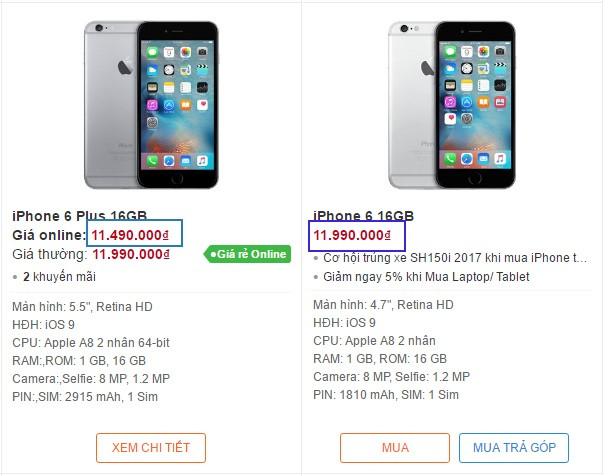 iPhone 6 Plus gia re hon iPhone 6 tai Viet Nam hinh anh 1