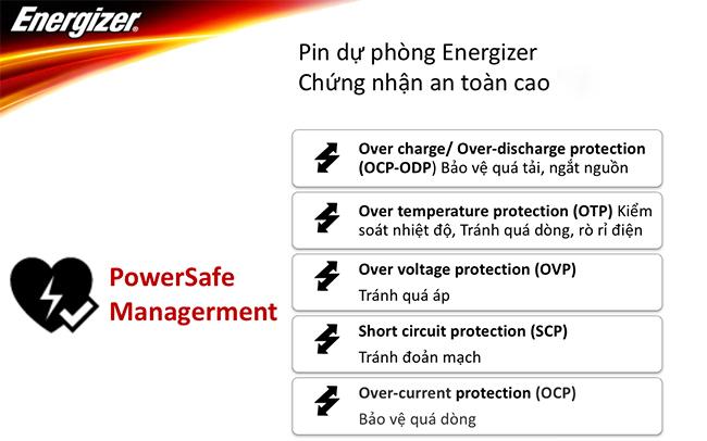 Pin sạc dự phòng Li-Po 2 cổng Energizer 8,000mAh UE8003GD