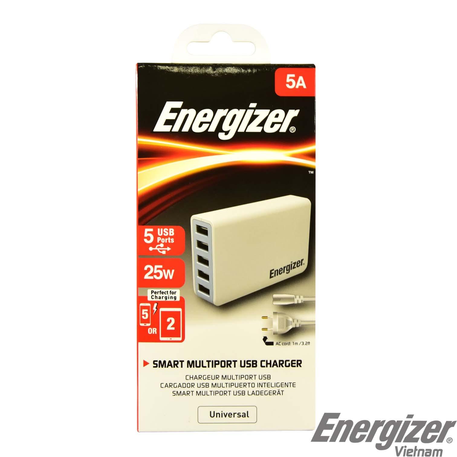 Bộ sạc Energizer 5 cổng