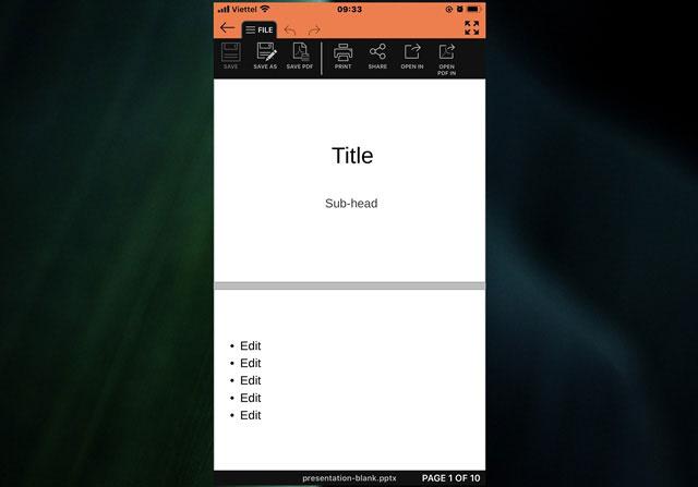 Bắt đầu tạo nội dung Slide trên SmartOffice