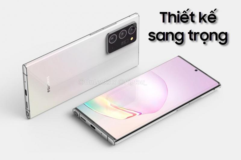thiết kế Samsung Galaxy Note 20