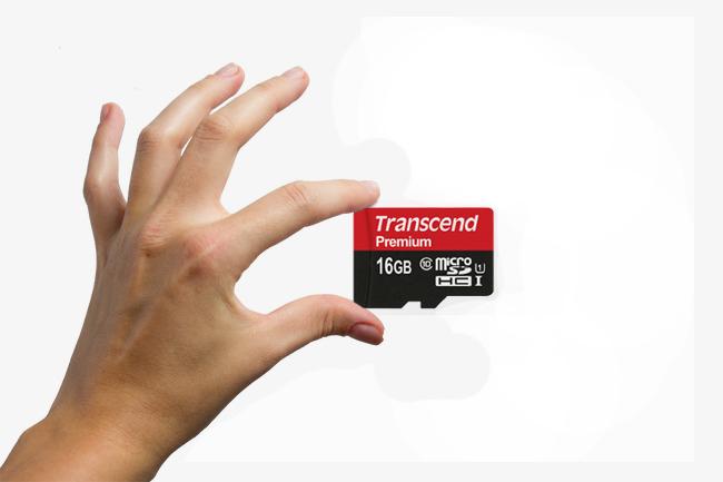 Thẻ nhớ Micro SDHC Transcend 16GB Premium (Class 10)-1