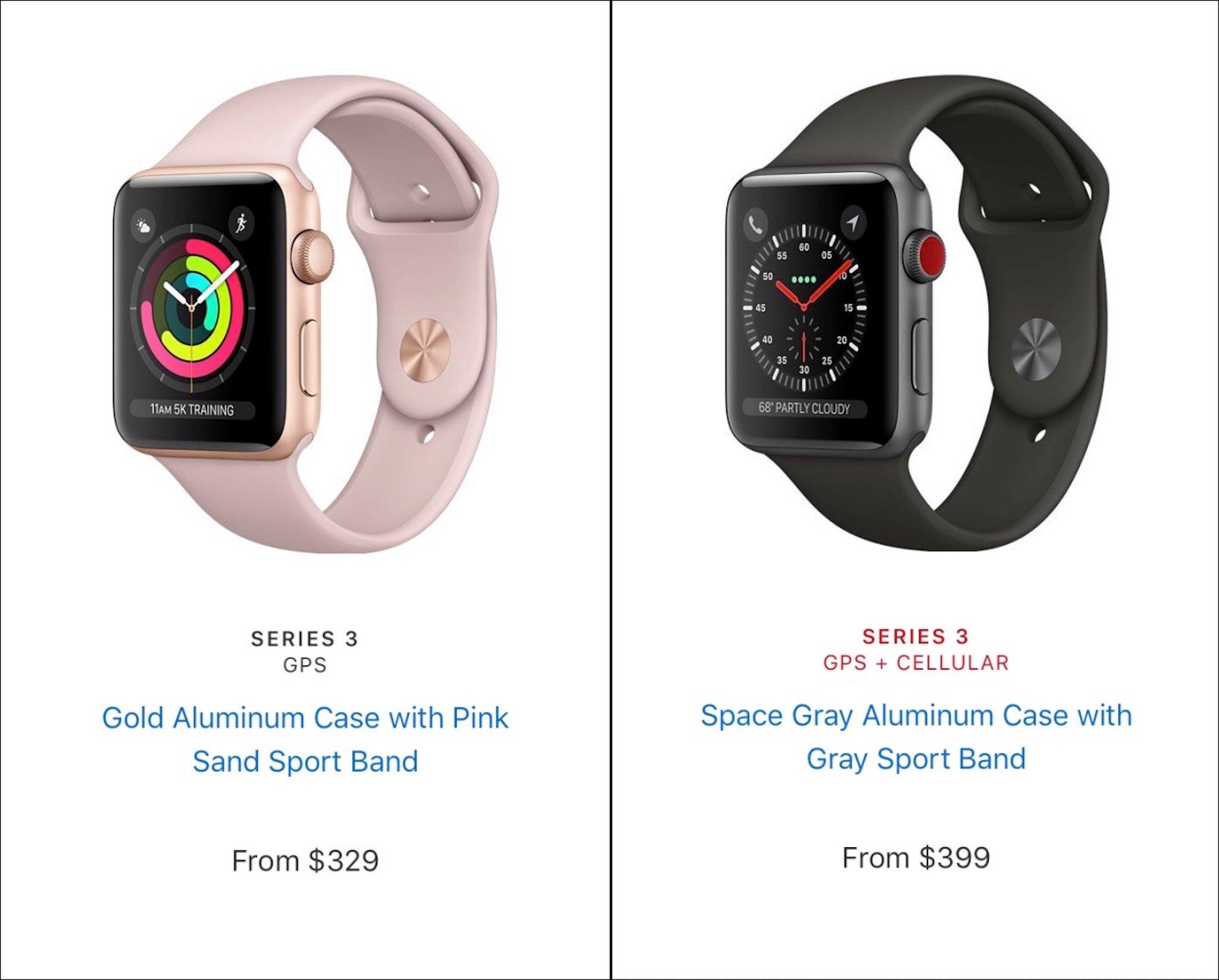 Apple Watch Series 3: Hỗ trợ LTE, chip W2 mạnh hơn 70%, giá từ 329 USD hình 5