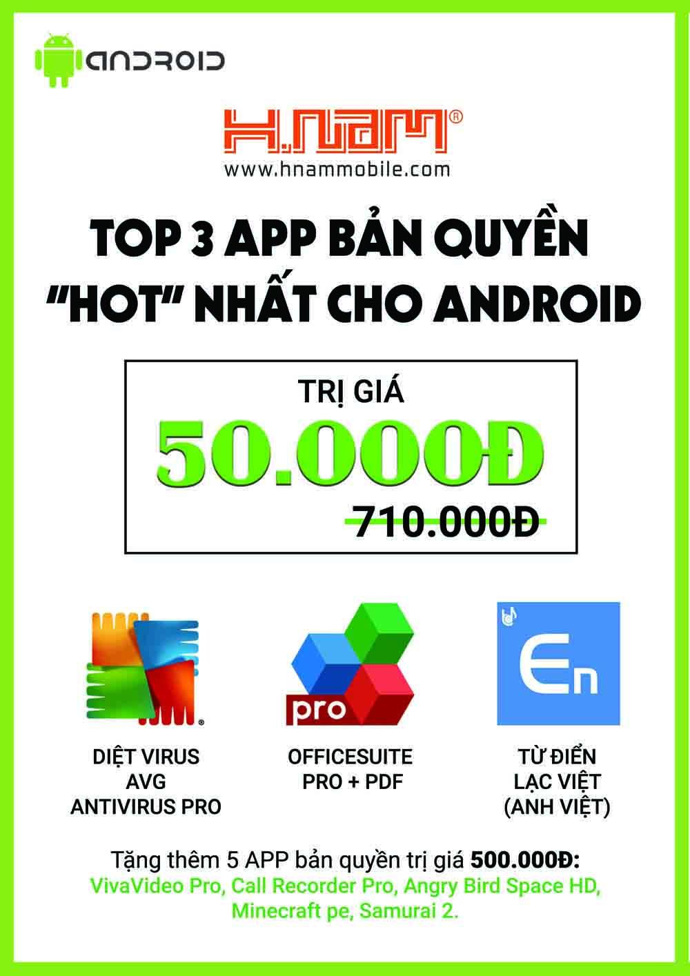 Top 3 app bản quyền