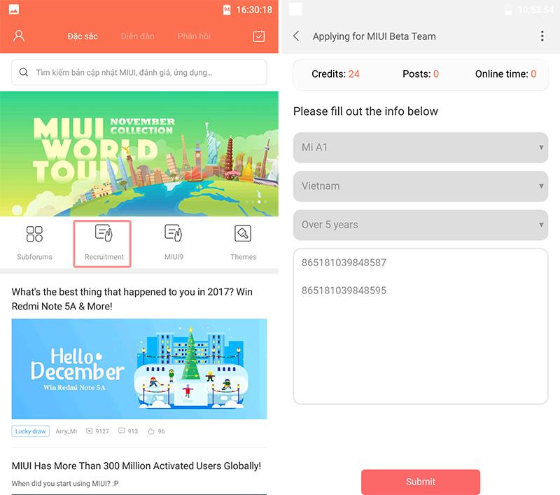 Hướng dẫn đăng ký Android 8.0 Oreo cho Xiaomi Mi A1 hình 3