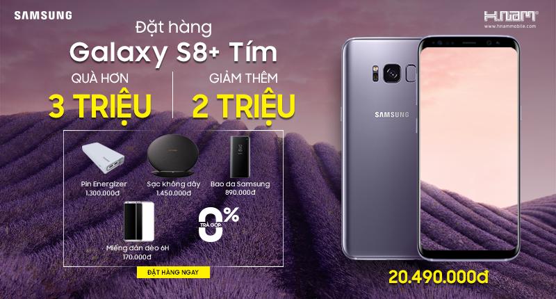 Quà hơn 3 triệu và giảm thêm 2 triệu khi đặt cọc Samsung Galaxy S8+ tím khói hình 1