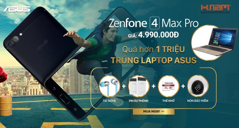 Mua Asus ZenFone Max Pro: trúng laptop Asus 11.3 triệu hình 1