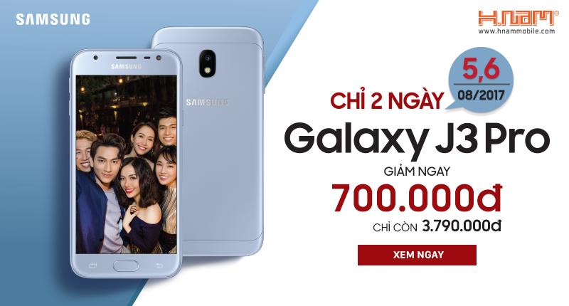 Điện thoại Samsung Galaxy J3 Pro bất ngờ giảm 700.000đ, chỉ còn 3.790.000đ hình 1