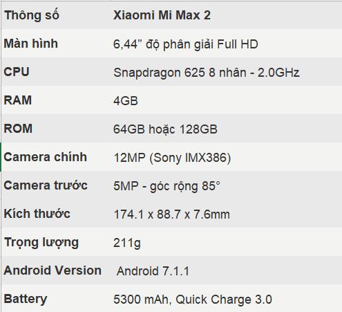 Xiaomi công bố giá bán cực sốc cho Mi Max 2 tại Việt Nam