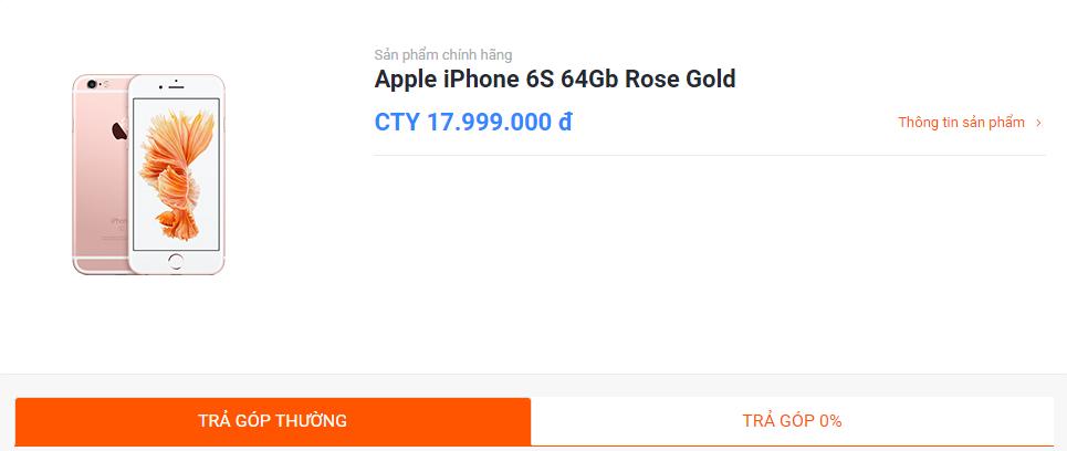 Hướng dẫn mua hàng trả góp trên website Hnam Mobile hình 3