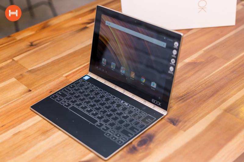 Mở hộp Lenovo Yoga Book: Thiết kế tablet lai laptop, bàn vẻ cảm ứng lực thích hợp cho họa sĩ. hình 16