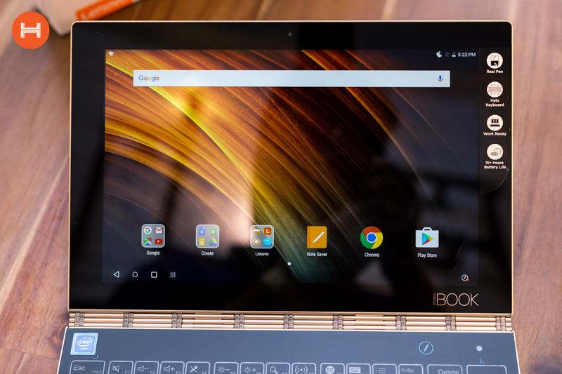 Mở hộp Lenovo Yoga Book: Thiết kế tablet lai laptop, bàn vẻ cảm ứng lực thích hợp cho họa sĩ. hình 17