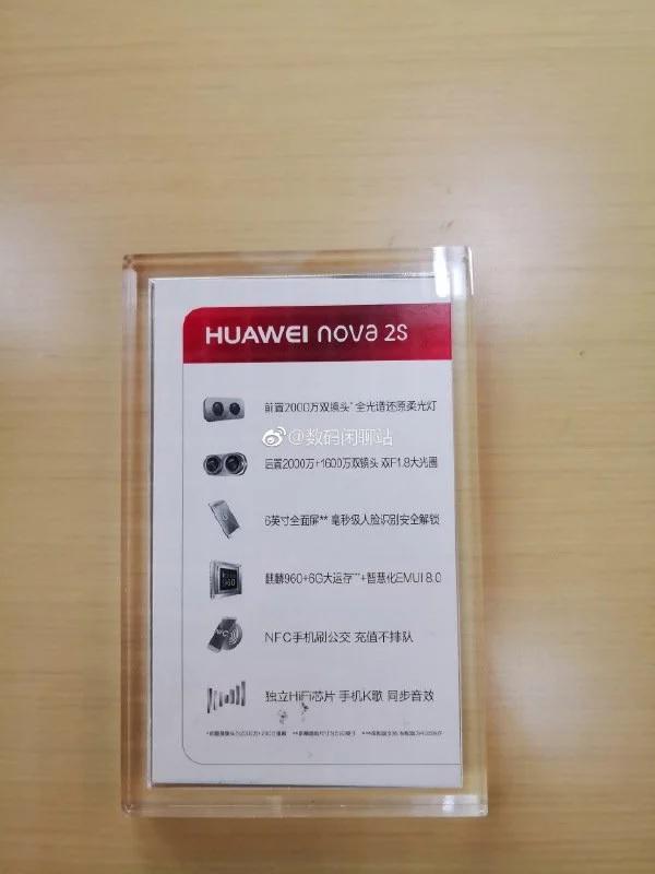 Huawei Nova 2S bất ngờ xuất hiện ngoài thực tế kèm thông tin cấu hình hình 4