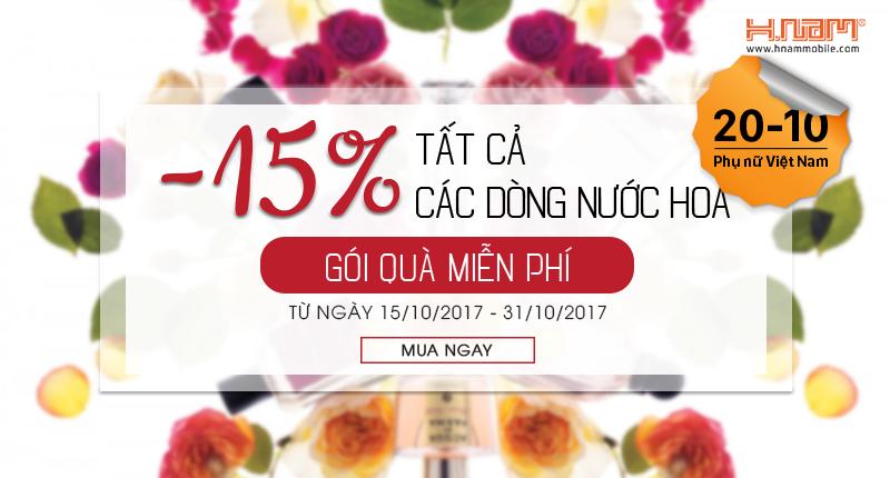 Giảm 15% tất cả nước hoa & gói quà miễn phí nhân dịp 20/10 hình 1