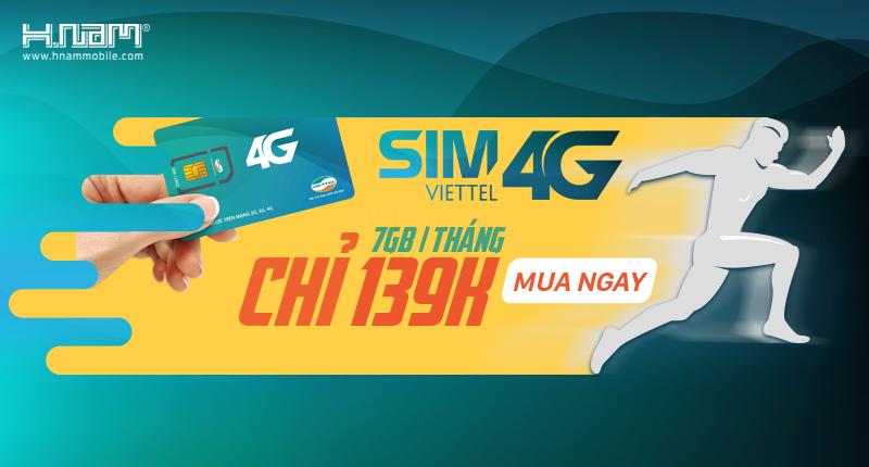 Số lượng có hạn: SIM 4G Viettel giá chỉ139.000đ, có ngay 7GB/tháng hình 1