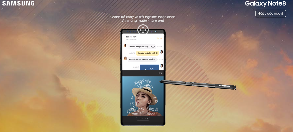 Cách trải nghiệm Galaxy Note8 cực kỳ thú vị ngay trên trình duyệt web hình 4