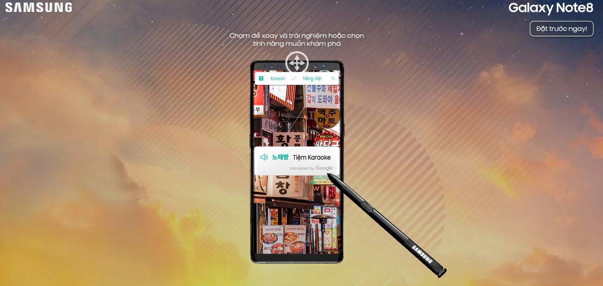 Cách trải nghiệm Galaxy Note8 cực kỳ thú vị ngay trên trình duyệt web hình 5