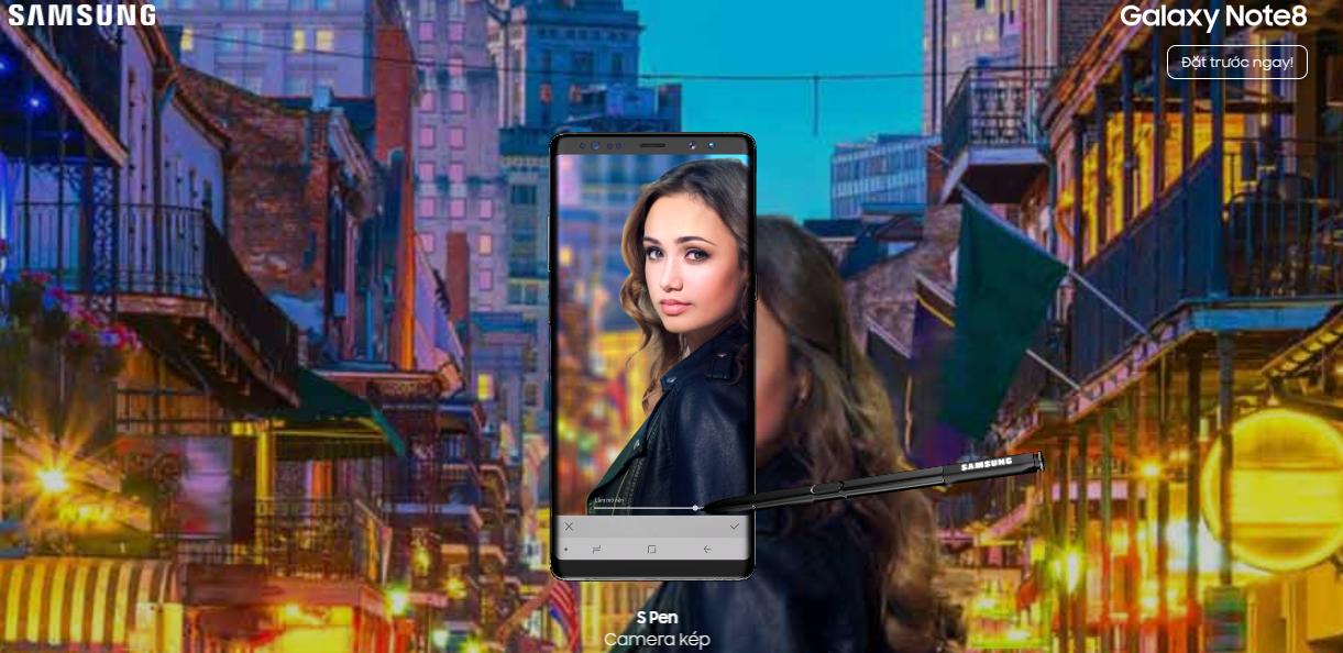Cách trải nghiệm Galaxy Note8 cực kỳ thú vị ngay trên trình duyệt web hình 6