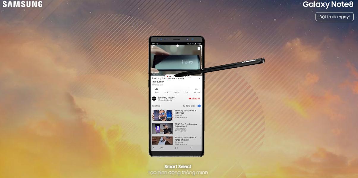 Cách trải nghiệm Galaxy Note8 cực kỳ thú vị ngay trên trình duyệt web hình 7