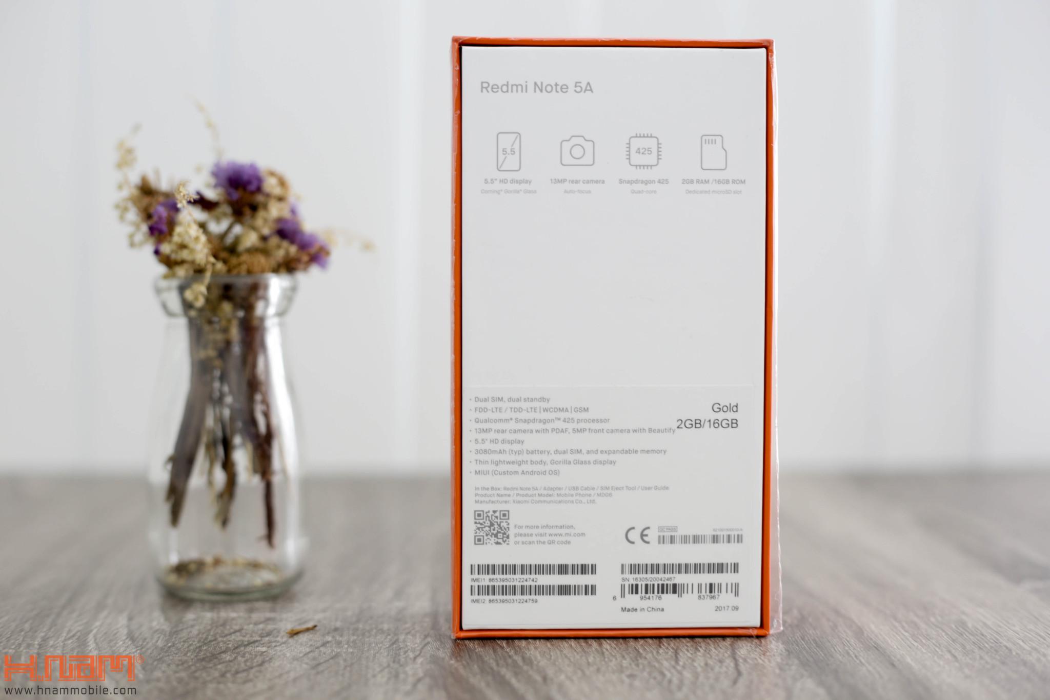 Đập hộp và trên tay Redmi Note 5A: Tân binh giá rẻ của nhà