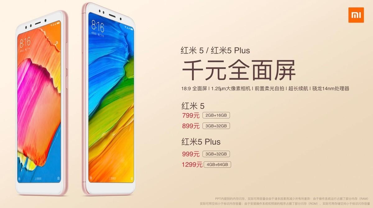 Xiaomi Redmi 5 và 5 Plus ra mắt: Màn hình 18:9, giá chỉ từ 2.7 hình 4