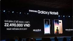 Samsung chính thức ra mắt Galaxy Note8 tại Việt Nam giá 22,490 triệu đồng