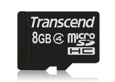 Transcend Micro SDHC 8GB Class 4 hình 0