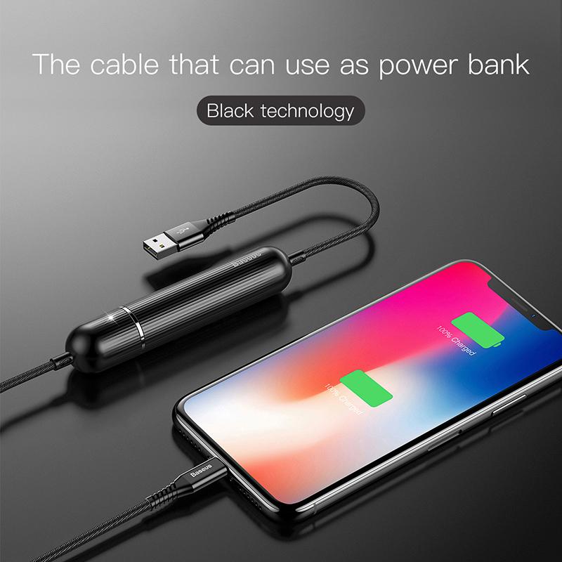 Baseus cable Lingtning 2in1 Energy (1m2) hình 2