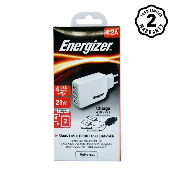 Sạc Energizer 4 cổng USB USA4BEUCWH5 4.2A 20W hình 2