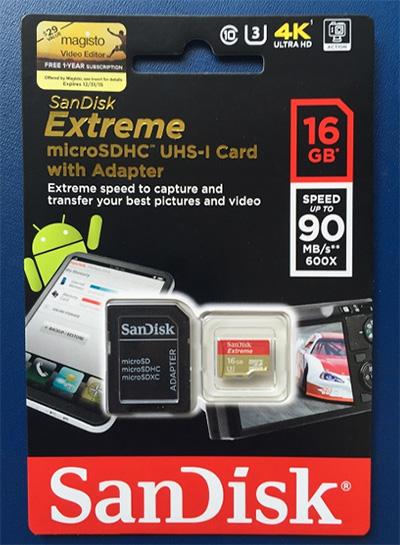 Thẻ nhớ SanDisk Extreme microSDHC 16Gb Class 10 UHS-I U3 600x hình 1