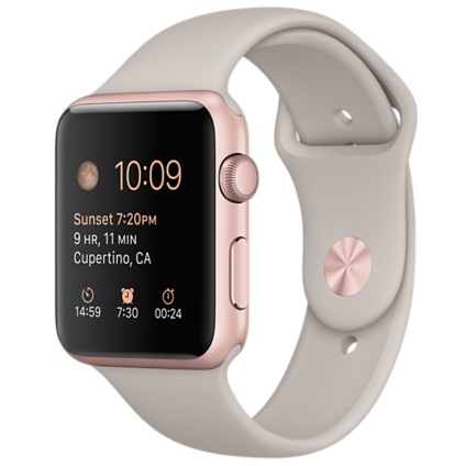 Apple Watch Sport with Stone Sport Band (42mm) Rose Gold MLC62 hình 1