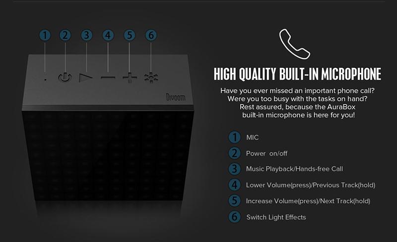 Loa Bluetooth Divoom AuraBox (Led Light) hình 2