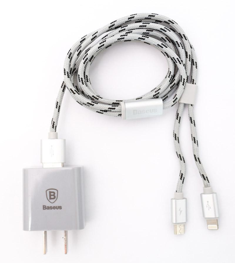 Combo sạc - cáp Baseus (Lightning/Micro) hình 2