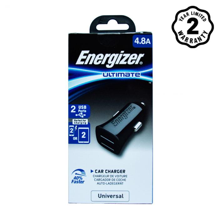 Sạc xe hơi Energizer UL 4.8A 2 USB DCA2DUBK3 hình 1