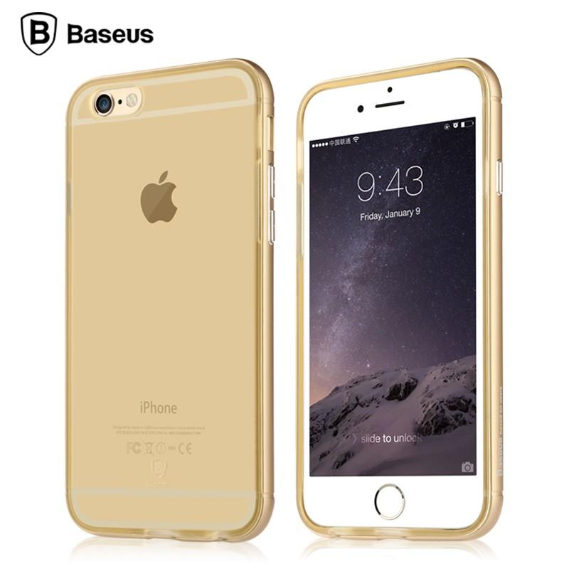 Ốp lưng Baseus Golden iPhone 6/6S (viền kim loại) hình 1
