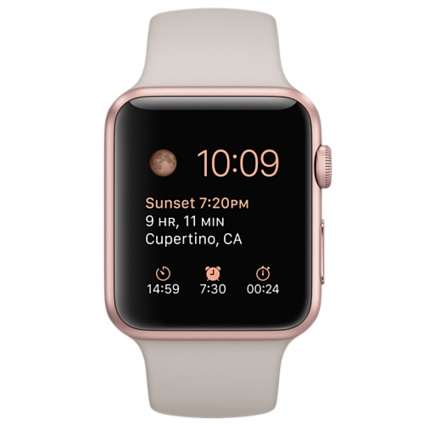 Apple Watch Sport with Stone Sport Band (42mm) Rose Gold MLC62 hình 0