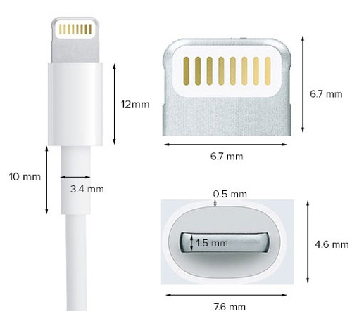 Cáp Apple Lightning iPhone 7/7 Plus hình 1