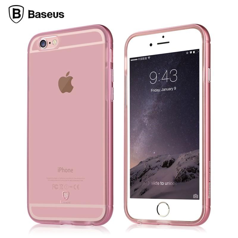 Ốp lưng Baseus Golden iPhone 6/6S (viền kim loại) hình 2