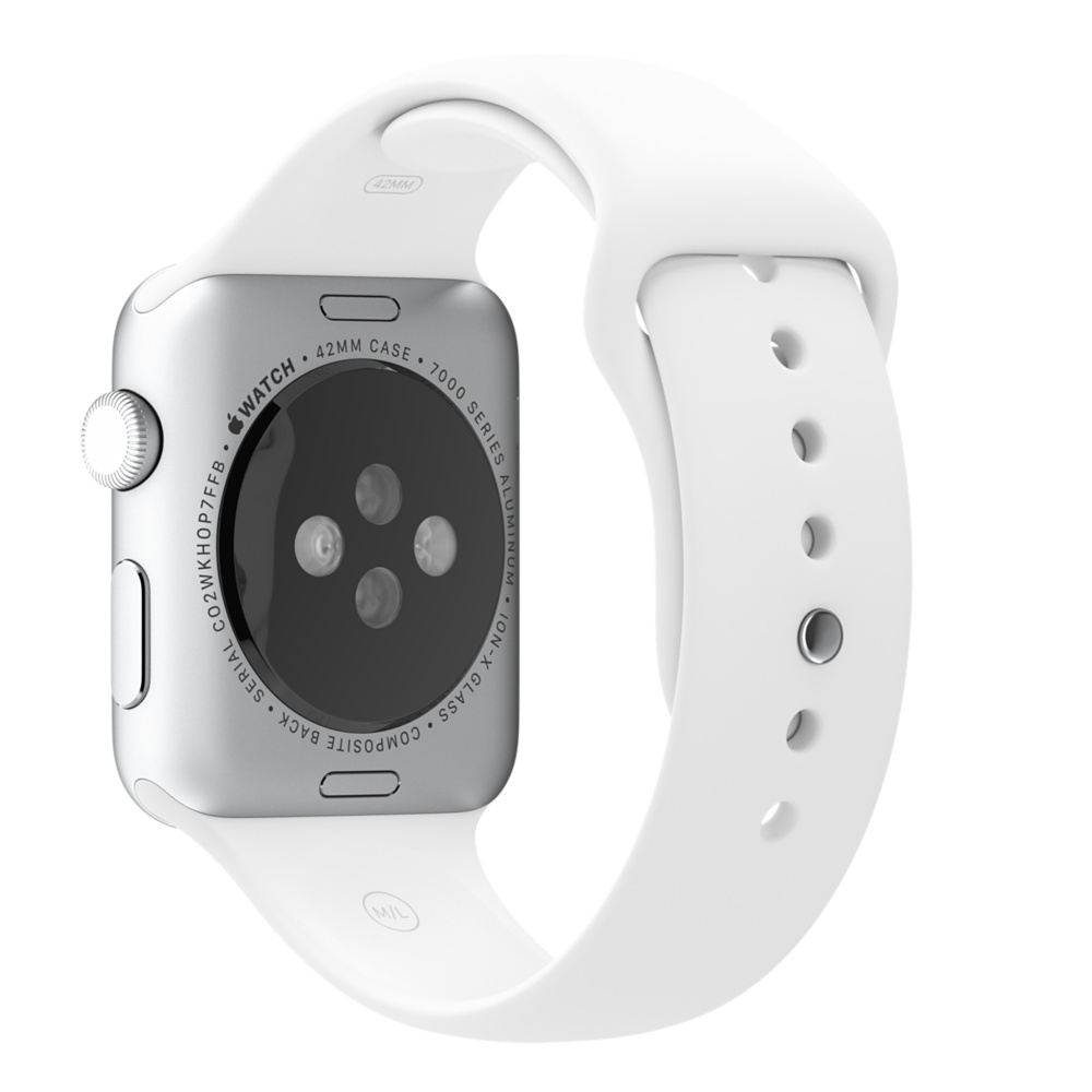 Apple Watch Sport With White Sport Band (42mm) MJ3N2 hình 2
