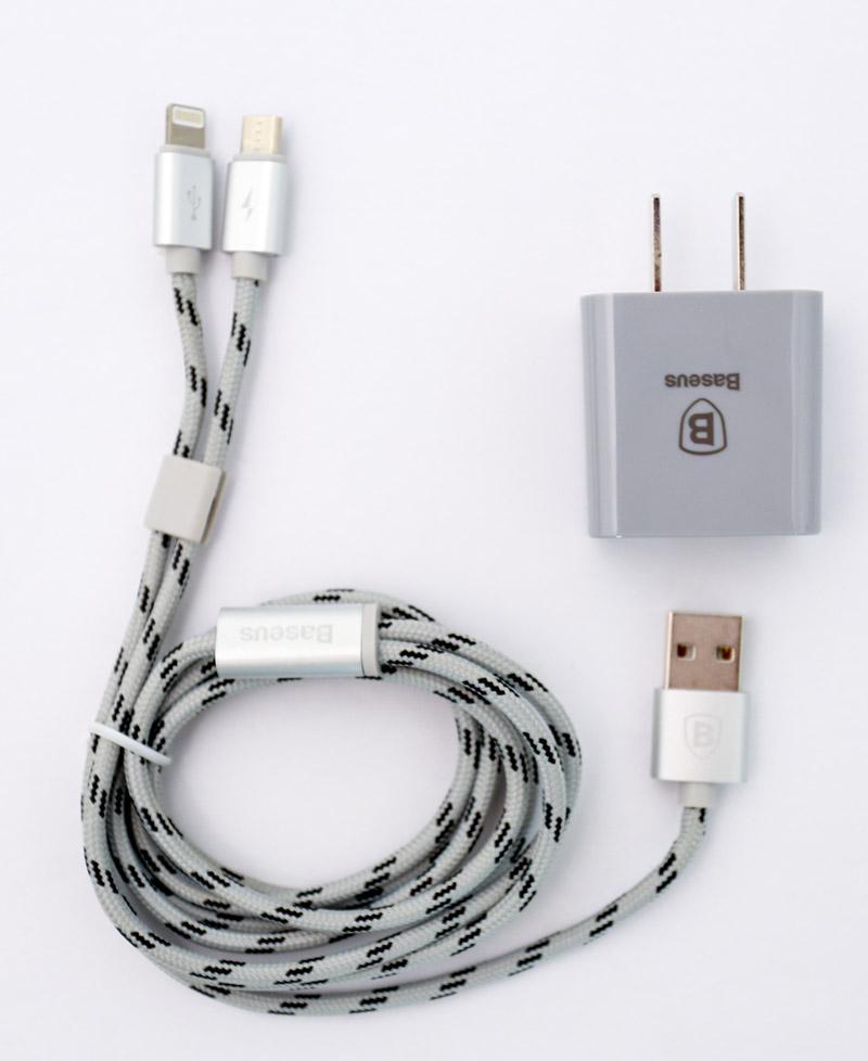 Combo sạc - cáp Baseus (Lightning/Micro) hình 1