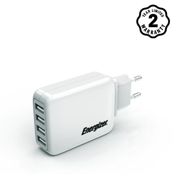 Sạc Energizer 4 cổng USB USA4BEUCWH5 4.2A 20W hình 0