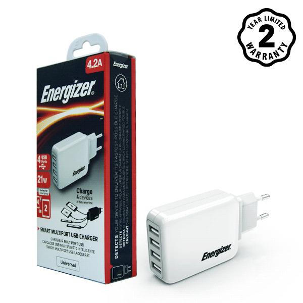 Sạc Energizer 4 cổng USB USA4BEUCWH5 4.2A 20W hình 5