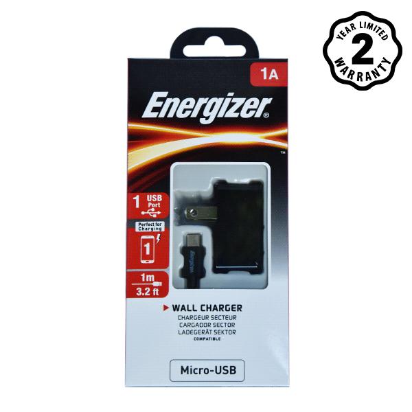 Sạc Energizer Wall ACA1AUSCMC3 1A 1USB (kèm cable Micro USB) hình 3